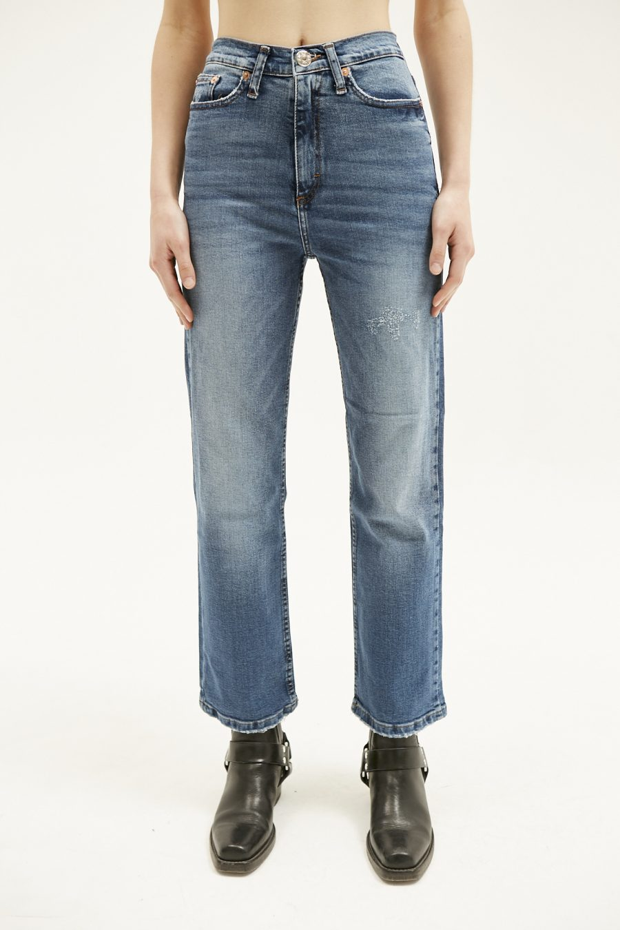 BOOT CUT USED BLUE