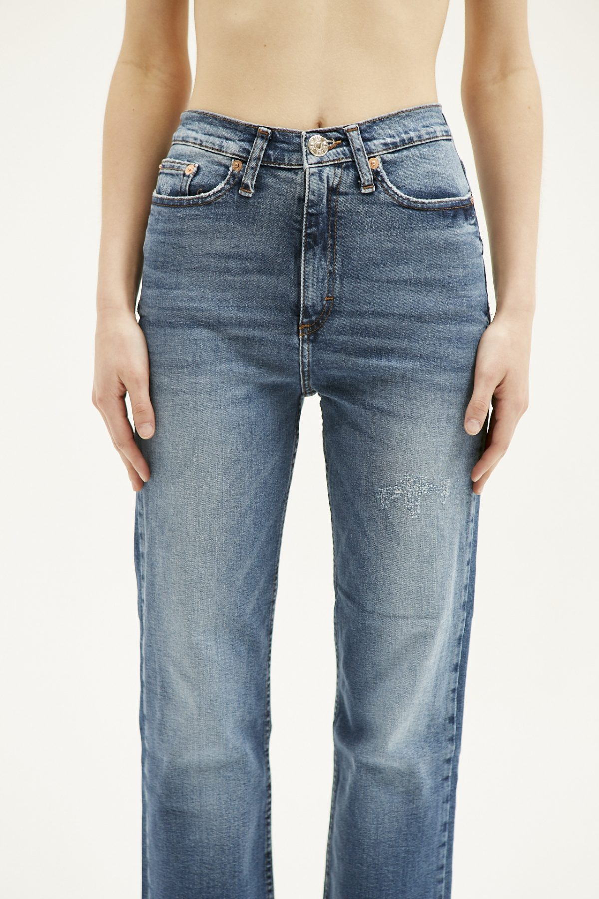 BOOT CUT USED BLUE1