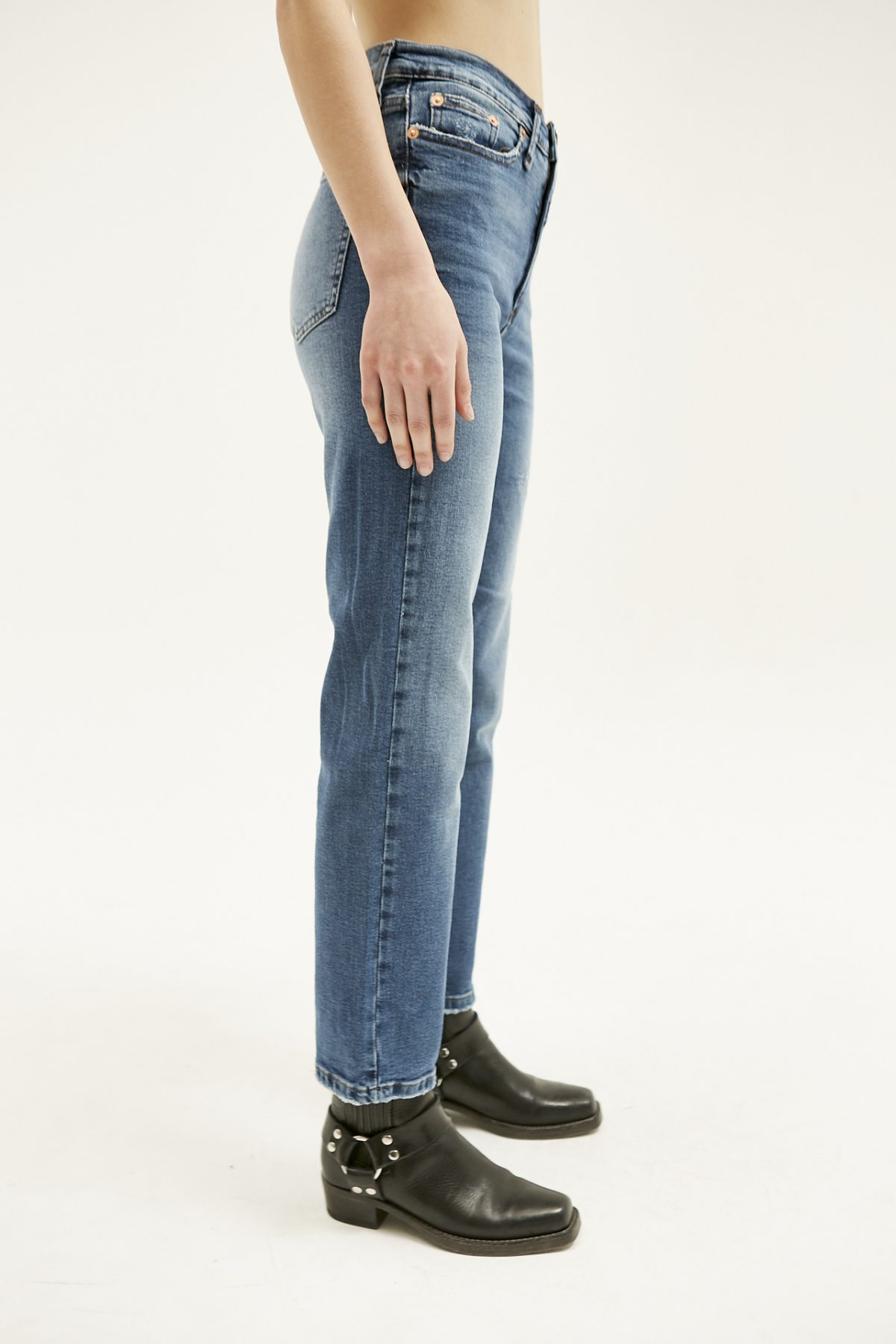 BOOT CUT USED BLUE14