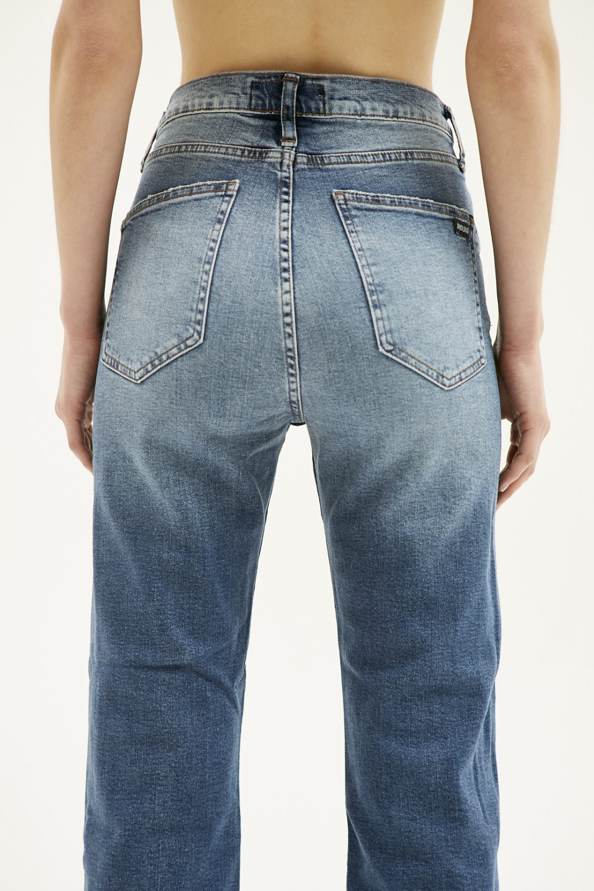 BOOT CUT USED BLUE15